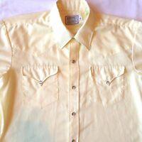 Vintage 70's H Bar C Ranchwear Pearl Snap Shirt Medium Western Rockabilly M