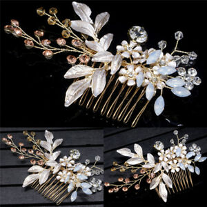 Gold-Crystal-Flower-Jewelry-Festival-Gift-Bride-Pin-Wedding-Hair-Clip-HairpQ6Q
