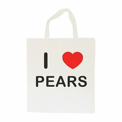 I Love Pears - Cotton Bag | Size choice Tote, Shopper or Sling