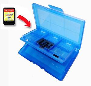 12-x-Nintendo-Switch-Blue-Game-Card-Case-Holder-UK-Seller