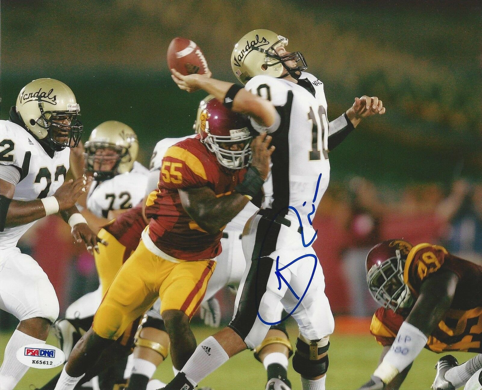 Keith Rivers Signed USC Trojans 8x10 Photo PSA/DNA #K65612