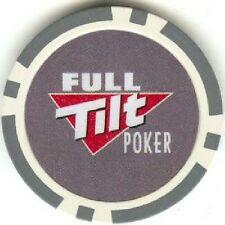 4 pc 4 colors FULL TILT poker chips samples set #129B