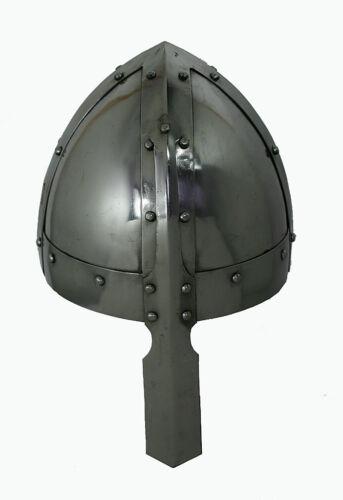 Normannen Wikinger Helm Mittelalter  Ritter Nasal Larp Reenactment  Rüstung R199