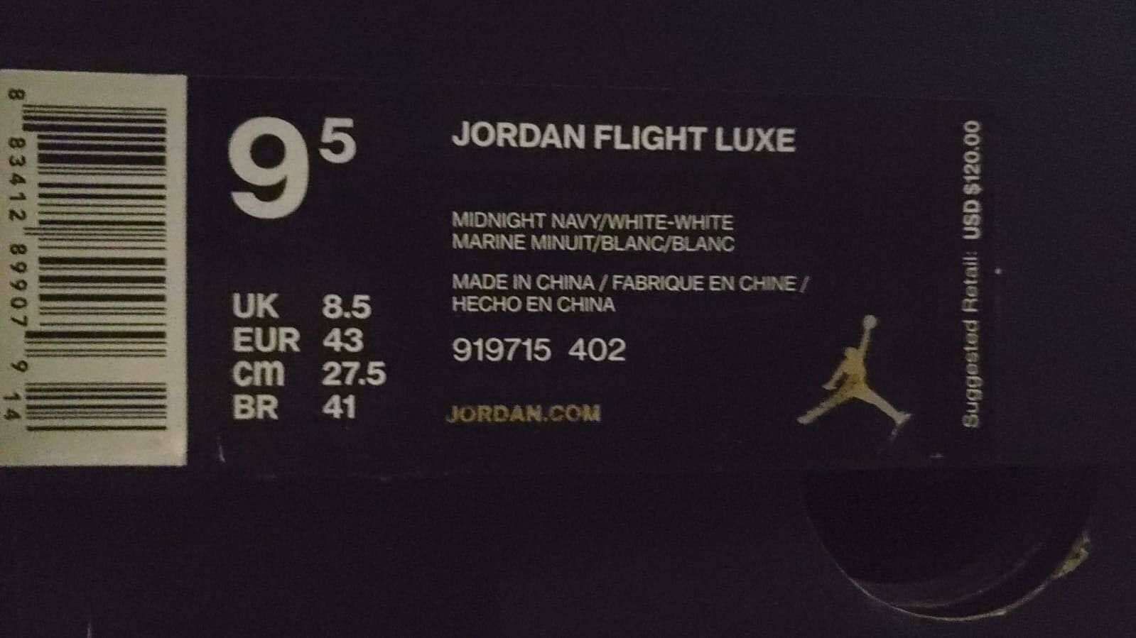 6d43a180262f23 ... Mens Jordan Flight Luxe 919715-402 Midnight Navy Brand New New New Size  9.5 bfaaeb
