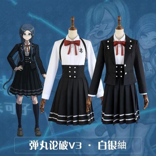 Danganronpa V3 Shirogane Tsumugi Cosplay Uniform Costume Outfits Shirt Skirt Set