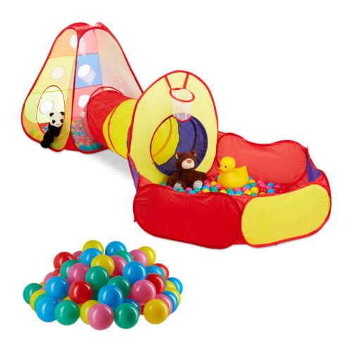 203 pièces   Ball Pool Set avec tunnel 200 balles tente de jeu pour enfants
