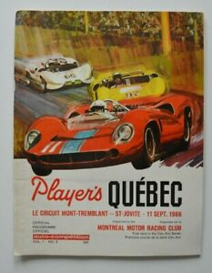 PLAYERS-Quebec-1966-Mt-Tremblant-Official-Program-John-Surtees-Ginther