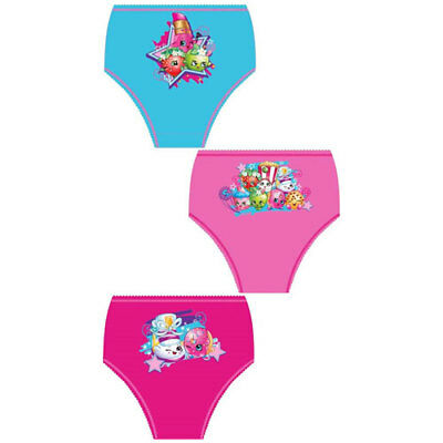 Shopkins Girls Briefs Pants Knickers Underwear Pack of 3 3-8 Years
