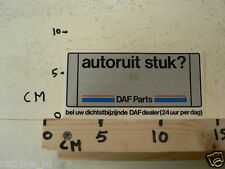STICKER,DECAL DAF PARTS AUTORUIT STUK, NOT 100 % OK