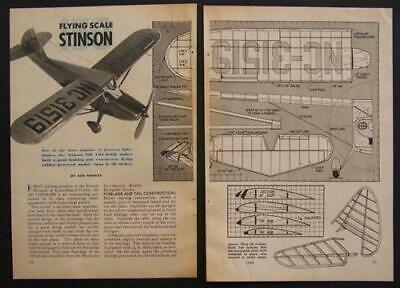 """30"""" Stinson 150 Voyager Rubber Power 1946 Howto Build Plans"""
