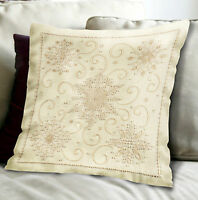 Candlewicking Embroidery Kit Janlynn Snowflakes Picture / Pillow 021-1362
