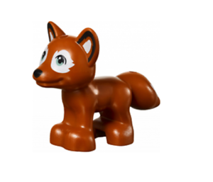 Lego Dark Orange Fox 41122 with Sand Green Eyes Friends Animal Minifigure