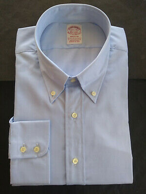 NWOT Brooks Brothers Egyptian Cotton Blue Spread Collar Madison Shirt MSRP $185