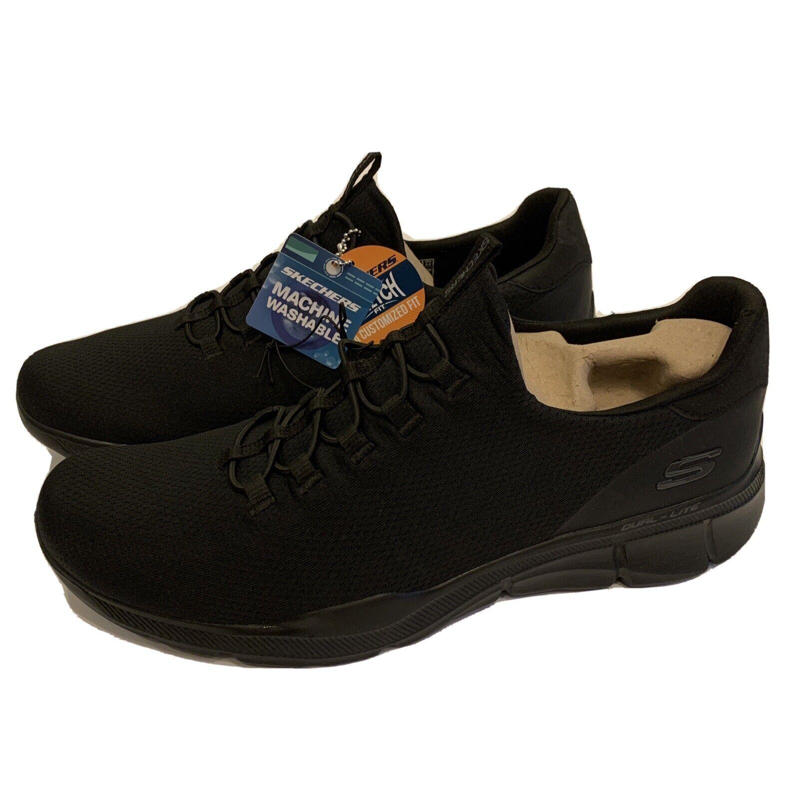 NEW Skechers Equalizer 3.0 Emrick 10.5 Black Slip-on Shoes Comfort Athletic