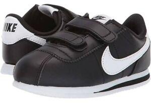 EUC Orig NIK* Cortez kids classic black leather rubber shoes szUS2.5Y US bought