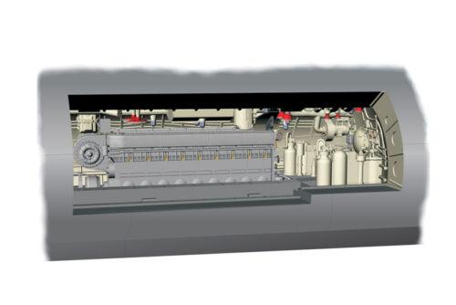 CMK 1//72 Type IXC Engine Section # N7217