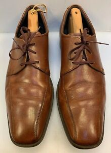 Ecco-Men-47-EU-13-13-5-US-Bicycle-Bike-Toe-Lace-Oxfords-Brown-Leather