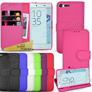best service 2a752 2d1d2 Details about For Sony Xperia X Compact F5321 - Wallet Leather Case Flip  Book Cover + Stylus