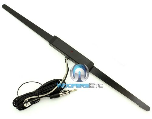 44-UA200 UNIVERSAL POWER AMPLIFIED WINDOW GLASS MOUNT AM FM RADIO ANTENNA NEW