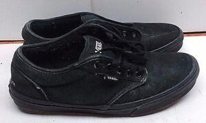 Details about Vans Men Black Canvas Athletic Lace Up Low Top Sneakers Skate Shoes Size 8.5M 41