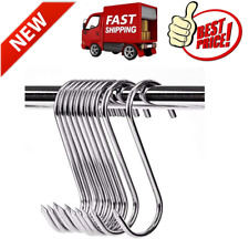 10 Pcs 39 Meat Hooks Stainless Steel Butcher Hook Meat Processing Smoker New