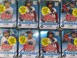 2021 Topps Series 1 Factory Sealed Collector Tin Bellinger Judge Trout Acuna