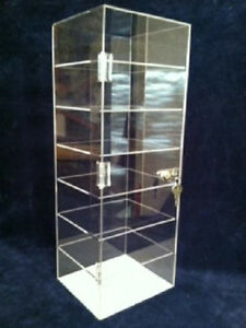 Acrylic-Counter-TOP-Display-Case-8-x-7-x-22-5-Lucite-Case-Locking-Showcase