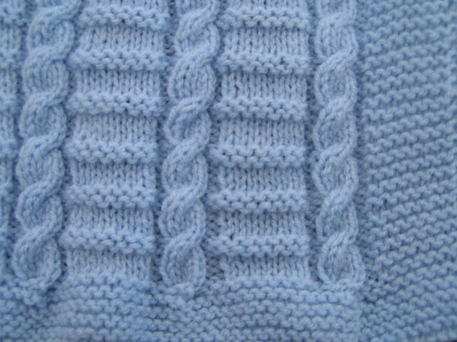 Easy To Knit Cable Baby Blanket Pattern In Dk Ebay