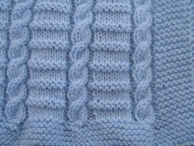 Easy to Knit Cable Baby Blanket Pattern in DK | eBay