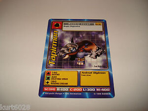 BANDAI DIGIMON CARDS ST-25 TORTOMON-GOOD CONDITION-1ST EDITION