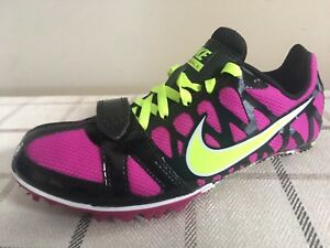 magasin en ligne 43e87 93006 Details about NIKE Zoom Rival S Sprint Track Spikes Shoes Running Volt  456811-530 Sz 4