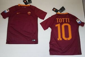 10031 As Roma Nike Totti Maillot Course T-shirt Enfant Junior Kids Jersey Match