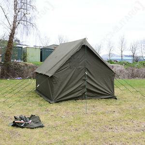 olive green us small wall tent ww2 wax canvas army camping shelter kit repro On small canvas tents