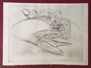 Pipi-Paloma-personaggio-con-colomba-acquaforte-1989-a-mano-firmata-e-datata