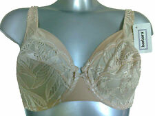 Barbara of Paris Nude Skin Underwired Bra 32B New Style Kentia Lace Floral Cups