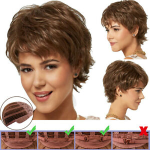 Womens-Ladies-Short-Curly-Full-Hair-Pixie-Wig-Synthetic-Cosplay-Party-Hairpieces