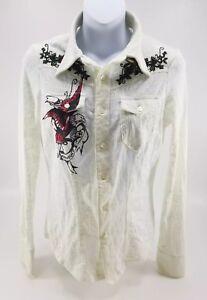 Lace-Top-by-Parasuco-Denim-Legend-Button-up-Lace-Sheer-Long-Sleeve-Top-Sz-Sm