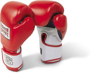 Paffen-Sport-Fit-Boxhandschuhe-10-16-Oz-Boxen-Kickboxen-Muay-Thai-in-rot