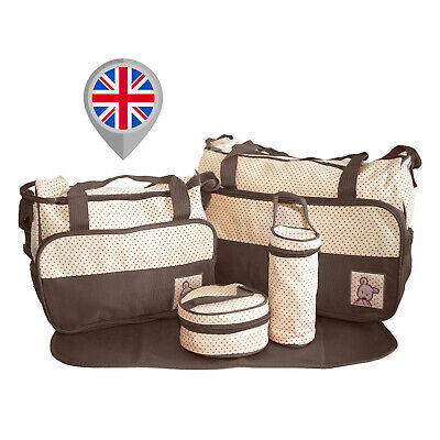 5pcs Baby Nappy Changing Bag Set Diaper Bags Shoulder Handbag Mommy Bag Newborn4