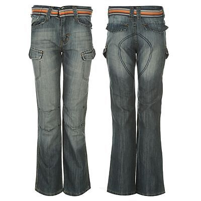 Boys  No Fear Belt Cargo Jeans with Multiple Pockets,11-12 Yrs RRP £26.99 New