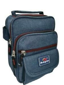 Unisex-Multi-Pocket-Messenger-Canvas-Cross-Body-Shoulder-Utility-Travel-Work-Bag