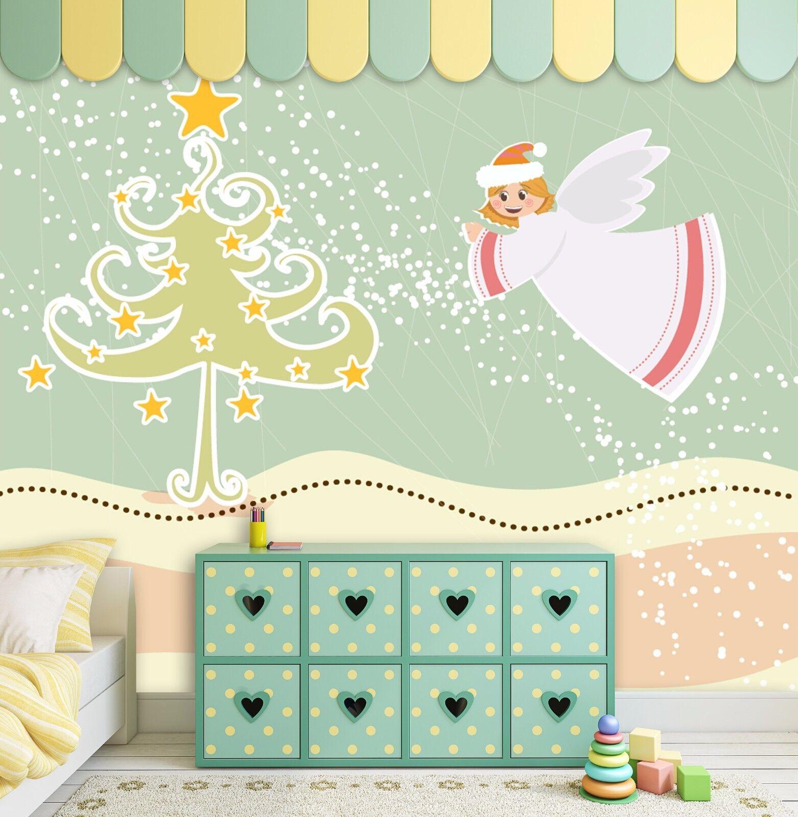 3D Angel Girl Tree 98 Wall Paper Murals Wall Print Wall Wallpaper Mural AU Kyra