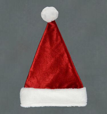 Unisex Father Christmas Hat Xmas Santa Family Fancy Dress Costume Gift Idea Ebay