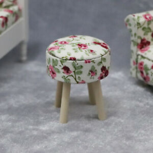 1-12-Dollhouse-Miniature-Wooden-Stool-Chair-Furniture-Kids-Pretend-Play-Toy-Sanw