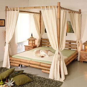 himmelbett 200x200 koh tao natur bambusbett bettrahmen holzbett ... - Doppelbett Luxus