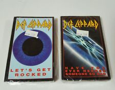 Def Leppard Let's get rocked and have you ever needed someone cassette singles