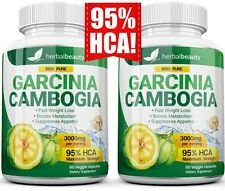 2 Pack GARCINIA CAMBOGIA 95% HCA 3000mg Daily Weight Loss Diet Pills Fat Burner