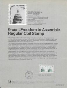 1591-9c-Freedom-to-Assemble-Regular-Coil-Stamp-Poster-Unofficial-Souv-Pg-Fd