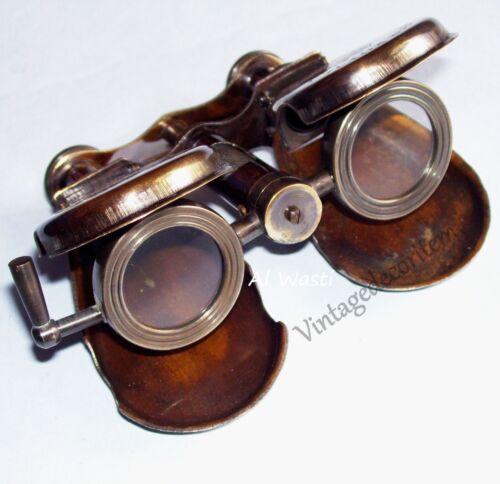 Antique Vintage Royal Navy London 1917 Folding Nautical Solid Brass Binocular