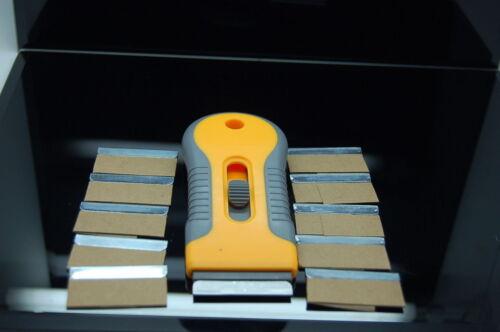 Retractable Razor Blade Holder Plastic Blades Scraper Single Edge Metal